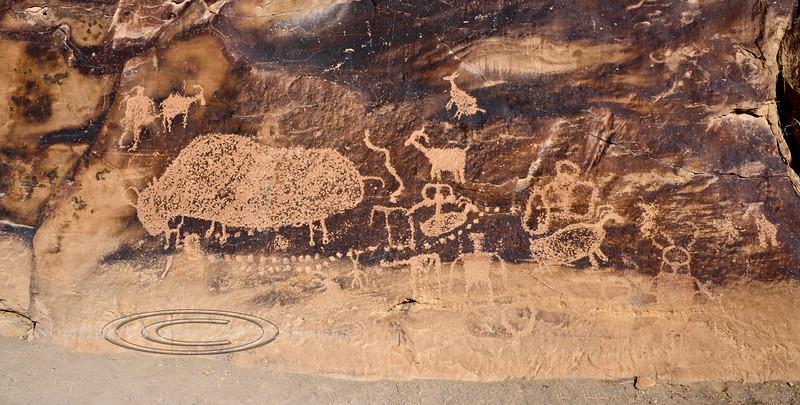 UT-NMC2017.10.7pm1.19#429- Petroglyphs. Nine Mile Canyon Utah.