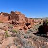 AZ-WNM2018.10.26#415- Lomatki pueblo. Near Box Canyon ruins, Wupatki Nat. Monument Arizona.