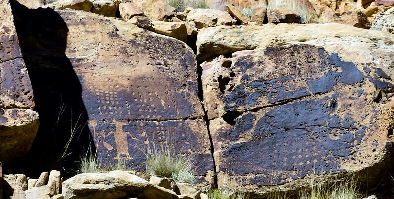 UT-NMC2017.10.7pm1.09#376- Petroglyphs. Nine Mile Canyon Utah.
