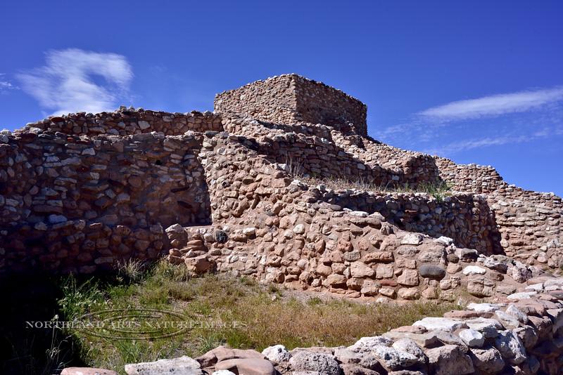 AZ-TZNM-2019.4.19#734.2. A view of rooms in the Tuzigoot Nat. Monument. Cottonwood,  Arizona.