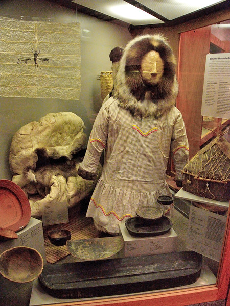 AK-2008.7.2#038.2. Eskimo exhibit in The Museum of the North. Fairbanks Alaska.