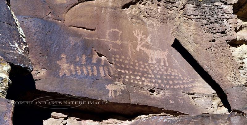 UT-NMC2017.10.7pm3.21#382- Petroglyphs. Nine Mile Canyon Utah.