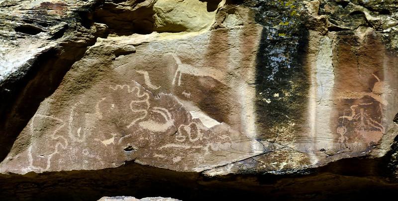 UT-NMC2017.10.7pm1.18#382. Petroglyphs. Nine mile Canyon Utah.
