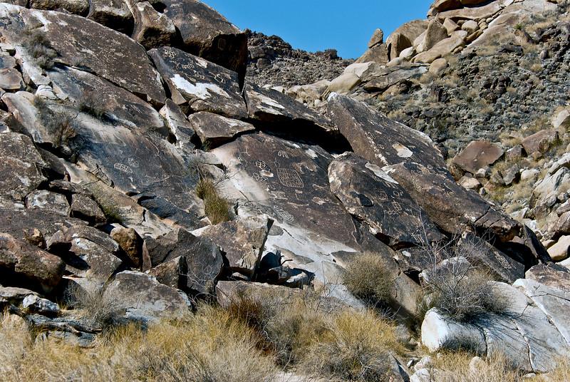 NV-GVC2007.2.26#0419- Petroglyphs. Grapevine Canyon Nevada.