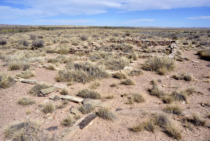AZ-PFNP-Puerco Pueblo2017.10.11#928- Petrified Forest Nat. Park, Arizona. occupied 1250 A.D. to late 1300's.