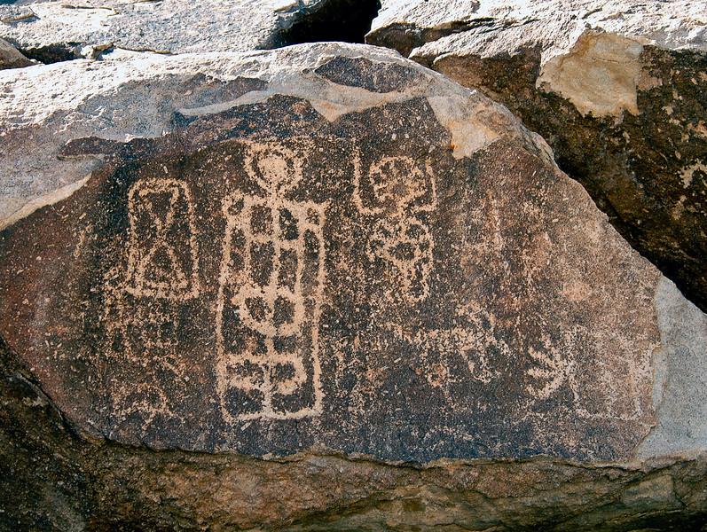 NV-GVC2007.2.26#0429- Petroglyphs. Grapevine Canyon Nevada.