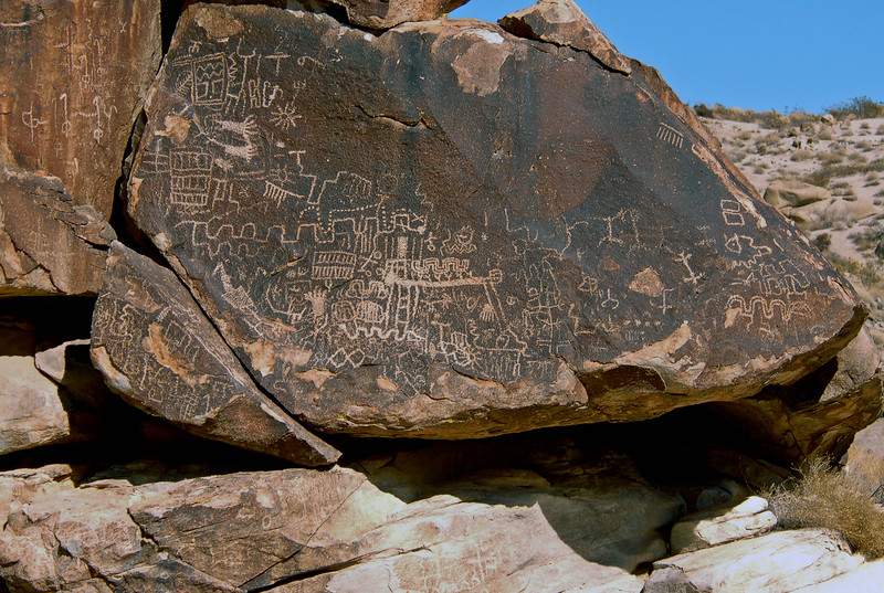 NV-GVC2007.2.26#0474- Petroglyphs. Grapevine Canyon Nevada.
