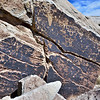 AZ-PFNP2017.10.11#958- Petroglyphs. Near Puerco Pueblo, Petrified Forest Nat. Park Arizona. 1250 A.D. to the late 1300's.