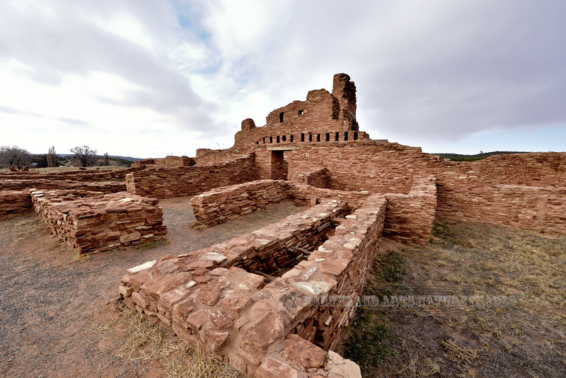 NM-SPM-Abo3-2019.11.11#4161.1x. Salinas Abo Mission ruins west of Mountainair, New Mexico.