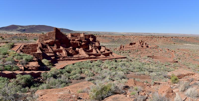 AZ-WNM2018.10.26#473-Wupatki Pueblo. Home to over 100 people of the Sinagua Anasazi culture during it's best time  around the year 1100. Wupatki Nat. Monument, Arizona.