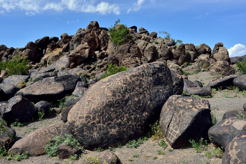 AZ-PRPS-Petroglyphs 2019.3.6#395. Painted Rock Petroglyph Site. Arizona.