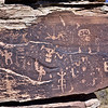 AZ-PFNP2017.10.11#961- Petroglyphs. A culture of ancestral Puebloan people lived near here from 1250 A.D. to the late 1300's at Puerco Pueblo. Petrified Forest Nat. Park Arizona.
