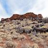 AZ-WNM2018.6.6#596-A pueblo ruin called the Citadel. Wupatki Nat. Mon. Arizona.