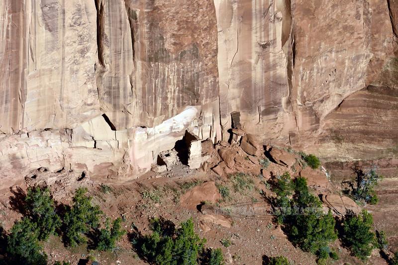 AZ-CDC2017.10.11#1023,2-Cliff Dwellings. Canyon DeChelly Nat. Monument Arizona. 1500 B.C. to 1350 A.D.