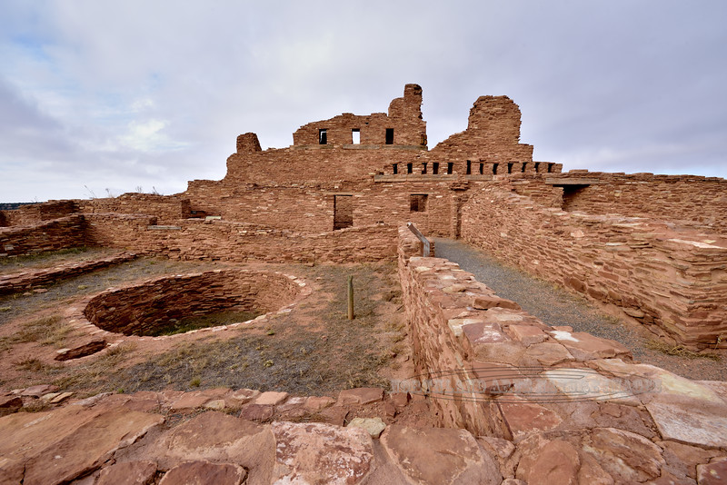 NM-SPM-Abo4-2019.11.11#4162.1x. Salinas Abo Mission ruins west of Mountainair, New Mexico.