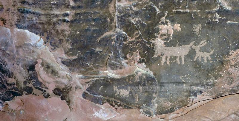 NV-VOF-AR2018.12.13#093. Petroglyphs, Atlatl Rock, Nevada.