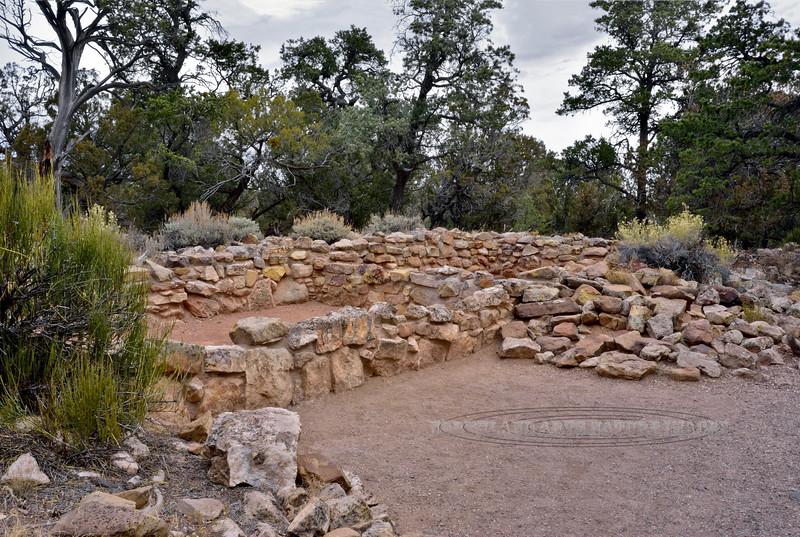 AZ-GCNP2017.11.29-Tusayan ruins. Grand Canyon Nat. Park, Arizona. #240. Occupied 1185 A.D.
