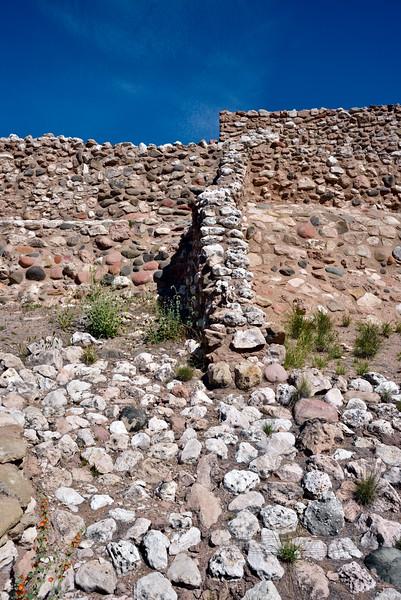 AZ-TZNM-2019.4.19#724.2. A view of construction in the Tuzigoot Nat. Monument. Cottonwood, Arizona.