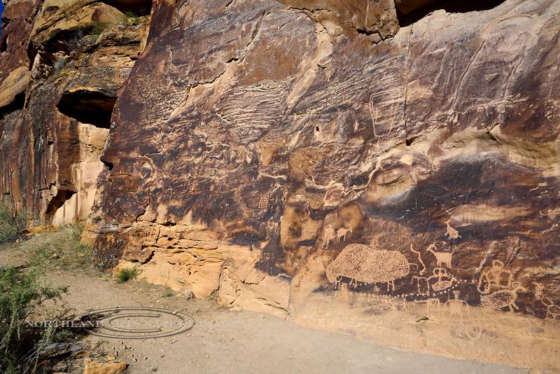 UT-NMC2017.10.7pm1.20#432- Petroglyphs. Nine Mile Canyon Utah.