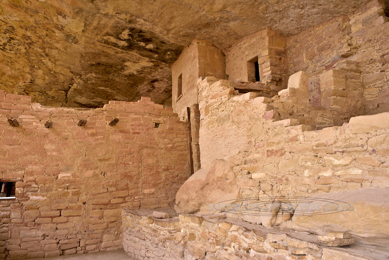 CO-MVNP2017.10.9#564. Balcony House. A pictograph on the ceiling in one of the main rooms. Mesa Verde, Nat. Park, Colorado.