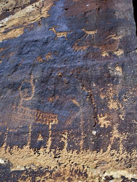 UT-NMC2017.10.7am11.55#407- Petroglyphs. Nine Mile Canyon Utah.