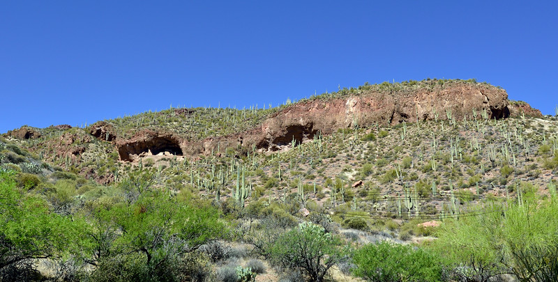 AZ-TNM2018.4.13-Tonto Ruins. #1161. Lower Cliff Dwellings. Tonto Basin Overlooking Roosevelt Lake Arizona.