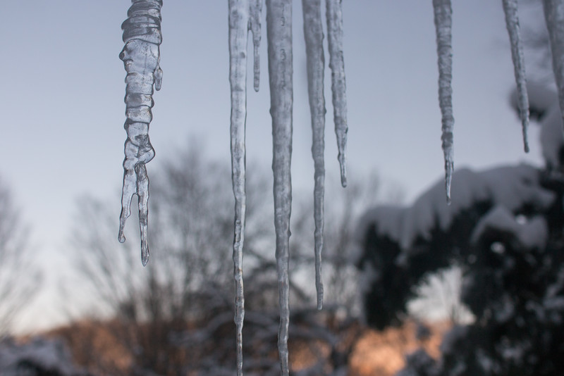 Icicles out window - March 6, 2015