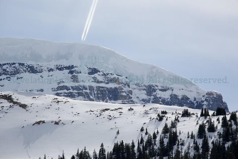 Mount Kitchener and Snow Dome with Jet