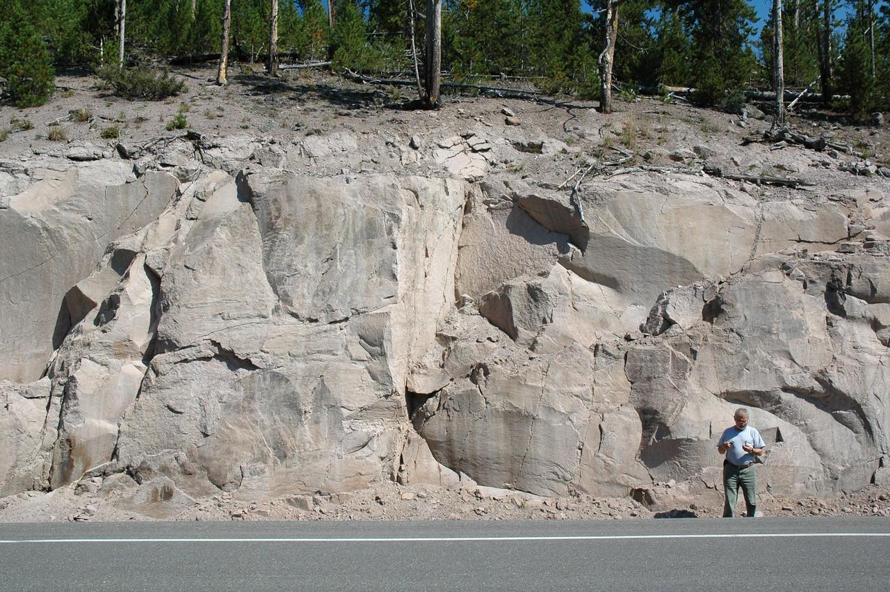 Volcanic tuff, Yellowstone NP