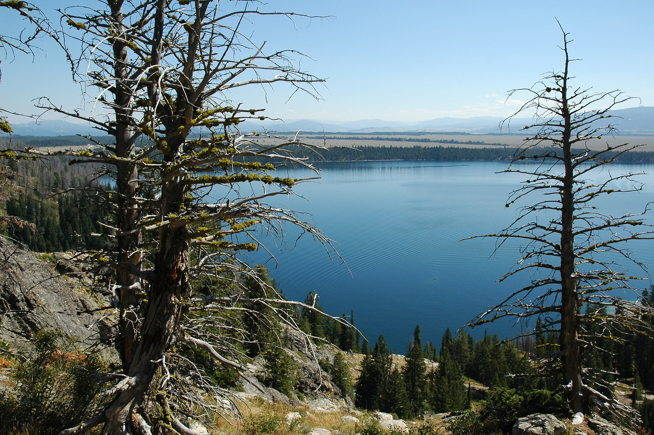 Jenny Lake from Inspiration Point, Grand Teton NP, Wyoming