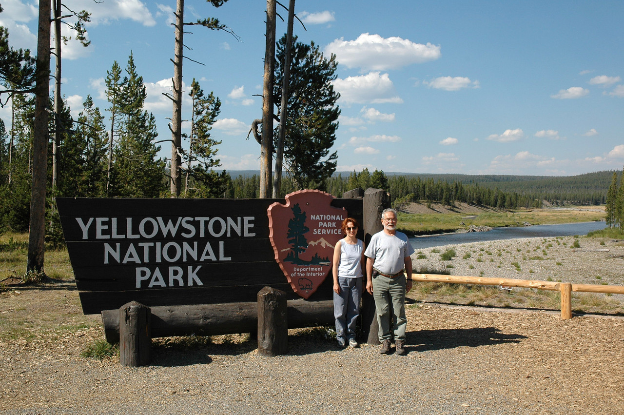 Yellowstone's southern entrance