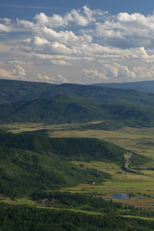 Yampa Valley from Steamboat Ski Resort's Thunderhead Building