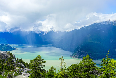 View from Stawamus Chief to Howe Sound,BC.
