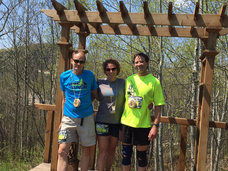Superior 25k Finishers Dave, Arah and Mike