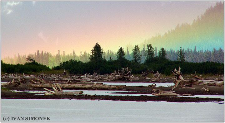 """""""STIKINE RAINBOW"""",Stikine river,Alaska,USA."""