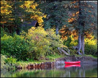 """MAGIC AFTERNOON"",USFS cabin Mt.Rynda,Stikine river,Alaska,USA."