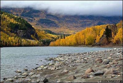 """ALONG STIKINE RIVER #6"",B.C.,Canada."