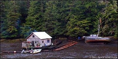 """TIDE IS OUT"",Meyers Chuck,Alaska,USA."
