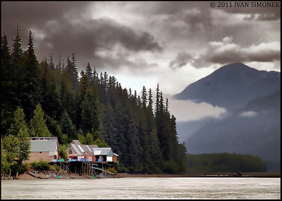 """GREAT GLACIER SEAFOOD"",Stikine river,B.C.,Canada.(HDR image)"