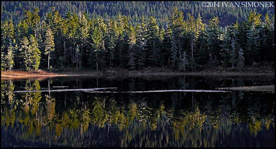 """PAT`S LAKE REFLECTION 1"",Wrangell,Alaska,USA."