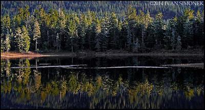 """PAT`S LAKE REFLECTION 1"",Wrangell,Alaska,USA."