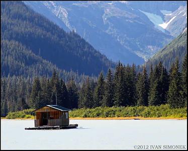 """""""FLOAT HOUSE #2"""",Shakes Slough,Alaska,USA."""