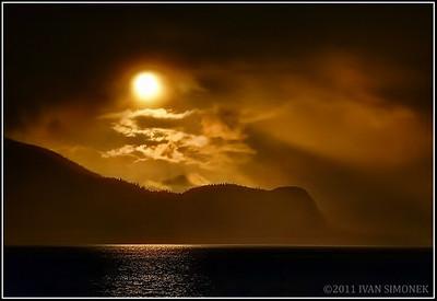 """A CLOUDY SUNSET"",Elephant Nose,Alaska,USA."