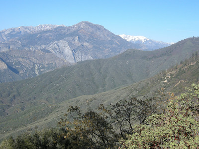 Looking northeast towards the drainage of the South Fork of the Kings river, from just north of Hume Lake.