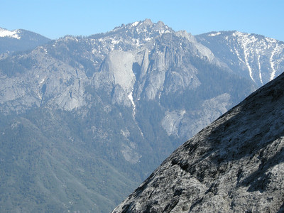 Looking south across the Middle Fork canyon to Castle Rocks and The Fin.
