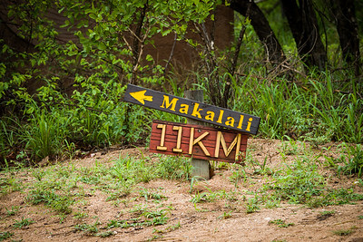 Road to Makalali Wildlife Reserve