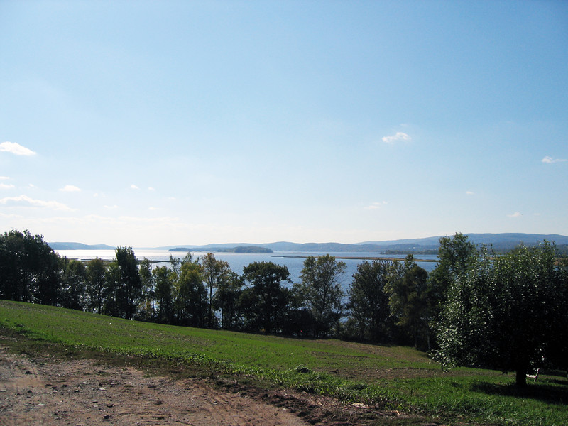 KINGSTON PENINSULA -  GORHAM'S BLUFF - Caton Island as seen from Gorham's Bluff's Apple orchard.