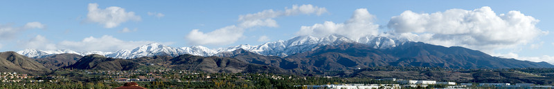 A rare picture of our local mountains covered with snow.  The snow level was at about 1800 feet.  This picture was take from Lake Forest.  12/19/08