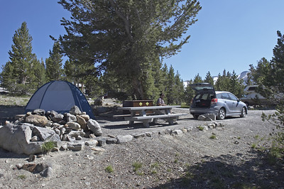 We got lucky with campsite #19.  The place didn't have a full sign, but there wasn't a site that looked unoccupied.  We decided on the way out to see if the campsite host could direct us to the empty site (since there was no full sign).  He told us that someone had reserved #19 here, but if they didn't make it by 3pm, he should assume they had made other plans.  Lucky for us, it was like 2:57pm ... and we got this spot!  Hope those other folks really did find a place to stay.