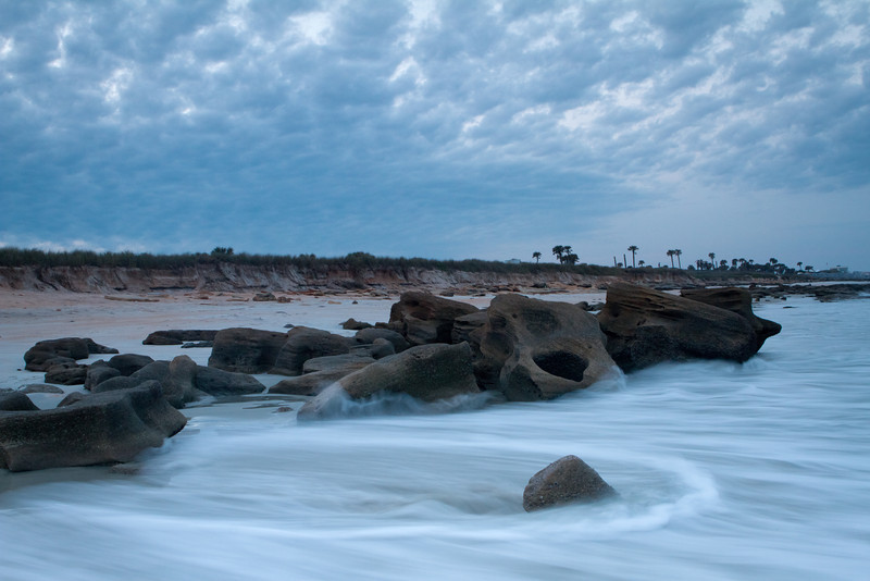 Coquina Rock formations about ten miles south of Saint Augustine
